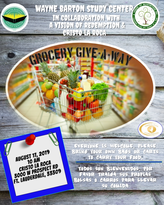 A Vision of Redemption, Inc  | Grocery Give-A-WayGrocery